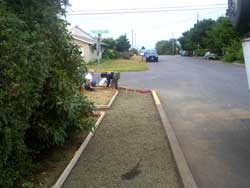 North View of Sidewalk